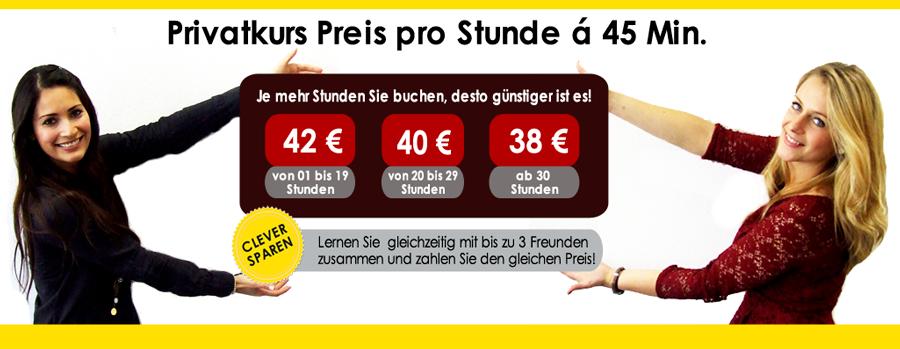 Deutsch Einzelunterricht - Preise