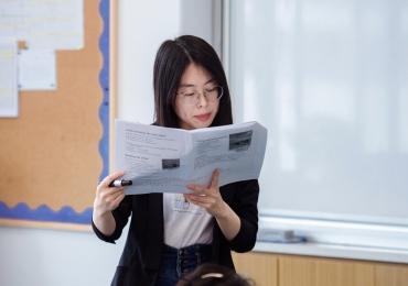 Muttersprachlerin Xiaoxiao gibt Nachhilfe in Frankfurt